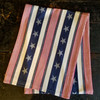 Set of TWO Stars & Stripes Cotton Table Runners - ON BLACK TABLE