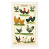 Colorful Chickens & Roosters Cotton Farmhouse Kitchen Towel