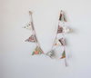Colorful Cotton Floral Bunting Garland  - F