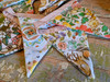 Colorful Cotton Floral Bunting Garland  - B