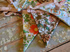Colorful Cotton Floral Bunting Garland  - C