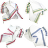 Set of 3 Vintage Style Striped Woven Farmhouse Dish Towels - A