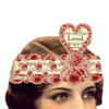 LOVED Mailable Wearable Paper Valentine Tiara Greeting Card - A