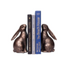 Pair of Springtime Bunny Bookends with Bronze Finish - F