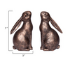 Pair of Springtime Bunny Bookends with Bronze Finish - H