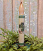 Four Leaf Clover St. Patrick's Day LED Battery Operated Taper Candle - C