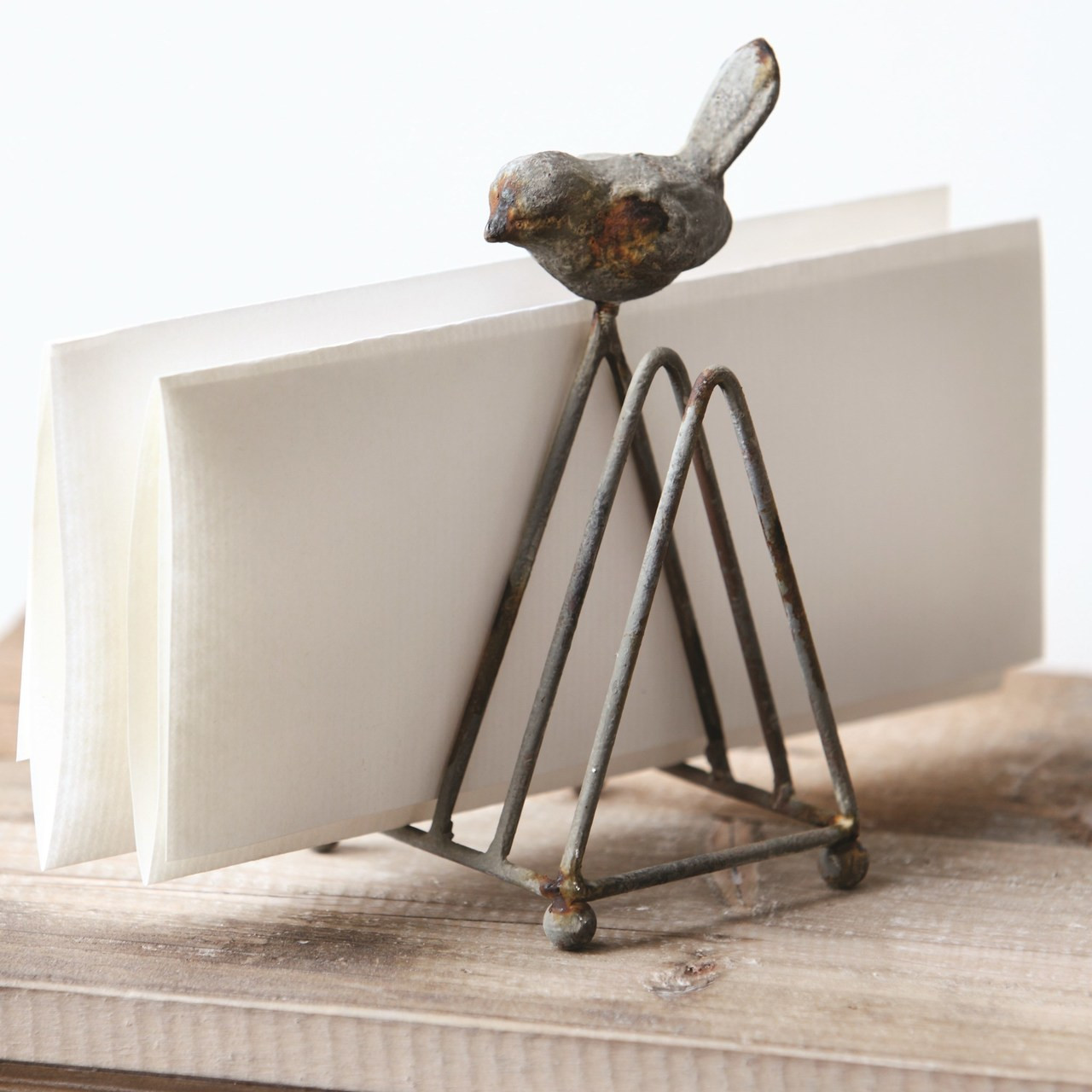 Metal Letter Holder with Bird