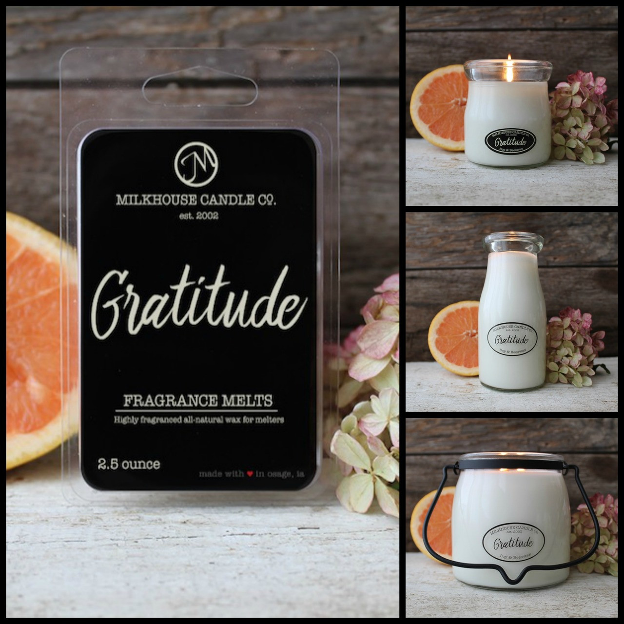 Milkhouse Candle Company Candle - Gratitude - Choice of Size