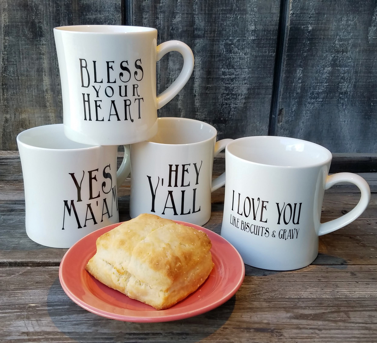 12 oz. Stoneware Mug with Southern Saying