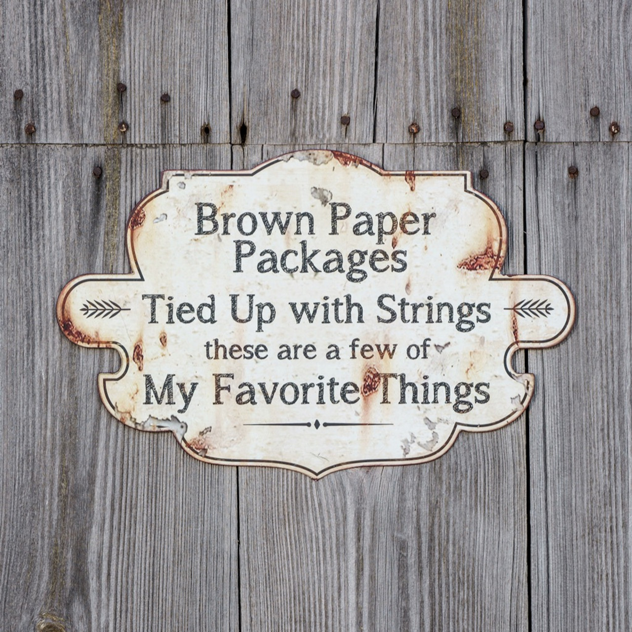 My Favorite Things Metal Wall Sign
