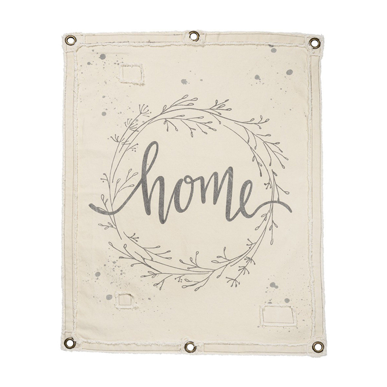 Canvas Wall Banner - HOME
