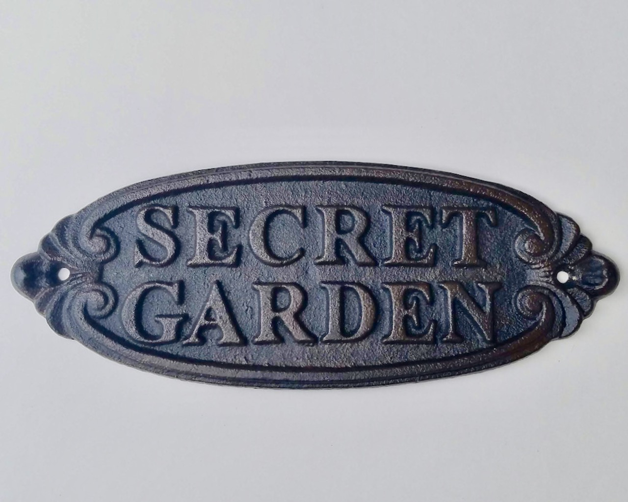 Secret Garden Cast Iron Plaque