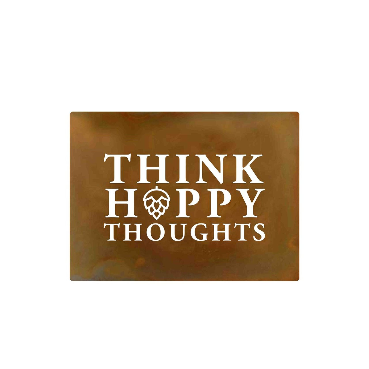 Hand-Crafted 'Think Hoppy Thoughts' Metal Wall Decor