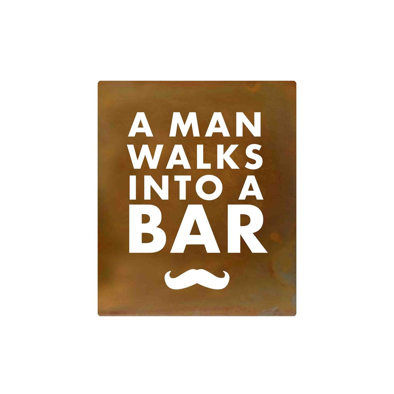 A Man Walks Into a Bar Hand-Crafted Metal Wall Art