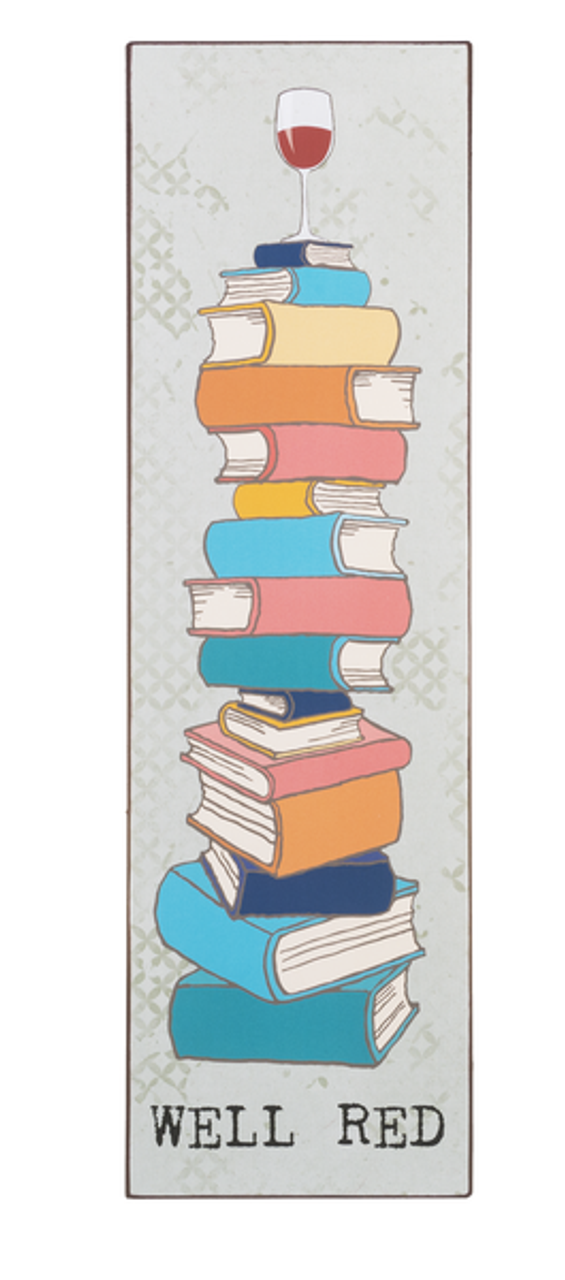 Well Red Wine Lovers Book Club Wall Decor