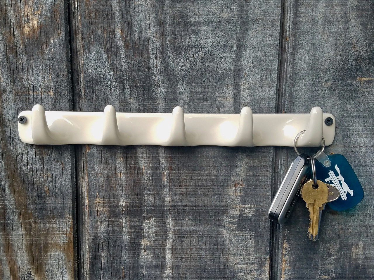 """12"""" Wide Stoneware Hook with Five Hooks"""