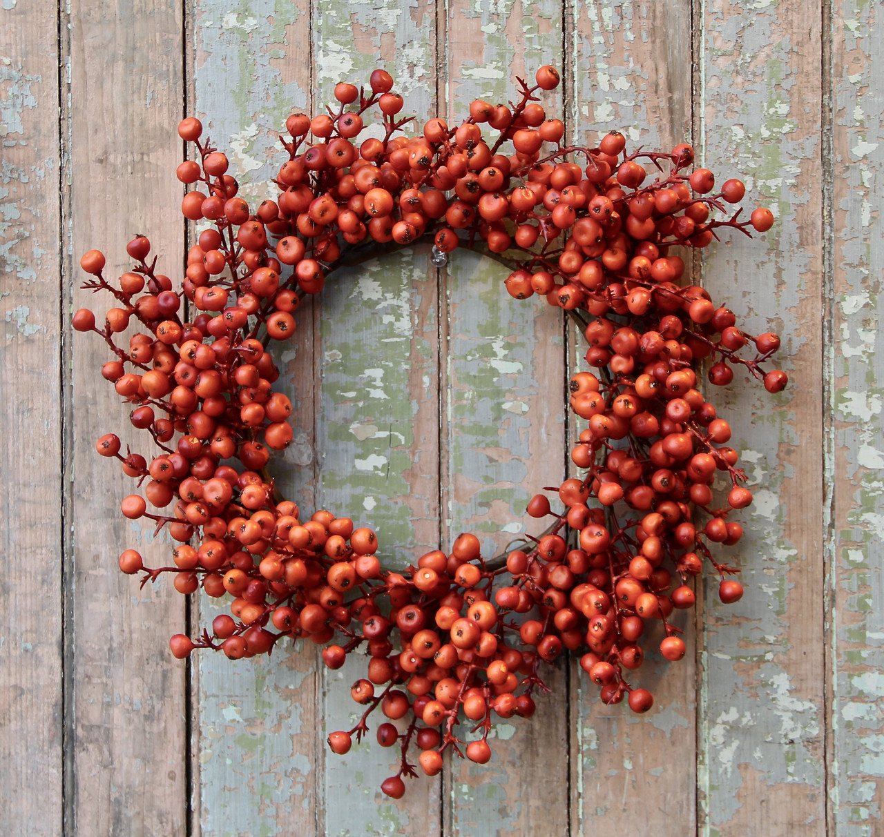 Autumn Harvest Cranberries Candle Ring or Wreath