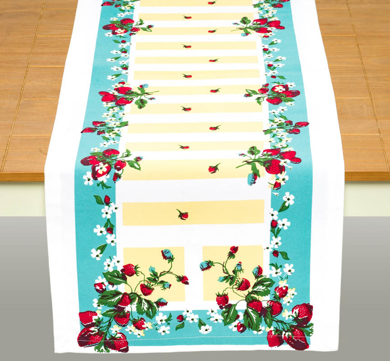 Vintage-Inspired Strawberry Lane Table Runner