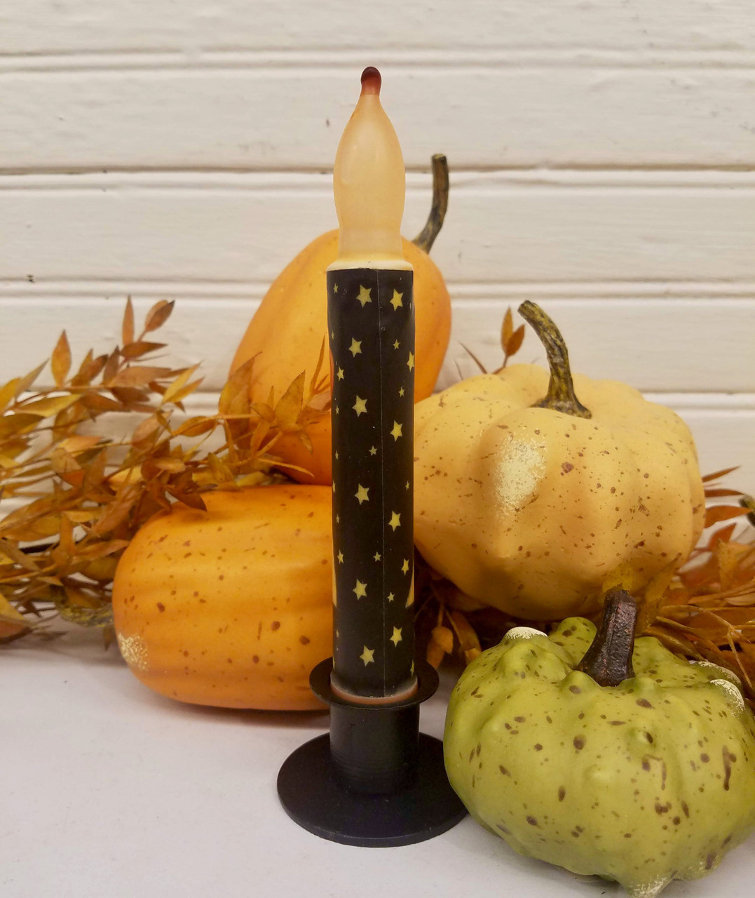 Halloween Ghost with Jack O Lantern LED Battery Operated Taper Candle