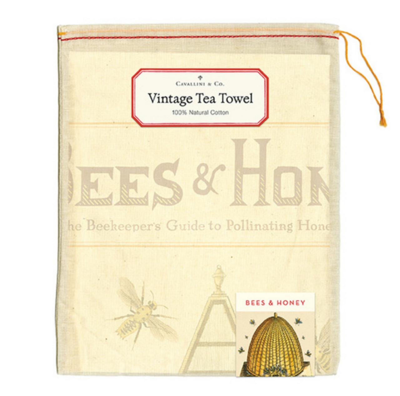 Bees & Honey Beekeeper's Guide to Pollinating Plants Kitchen Towel Pouch