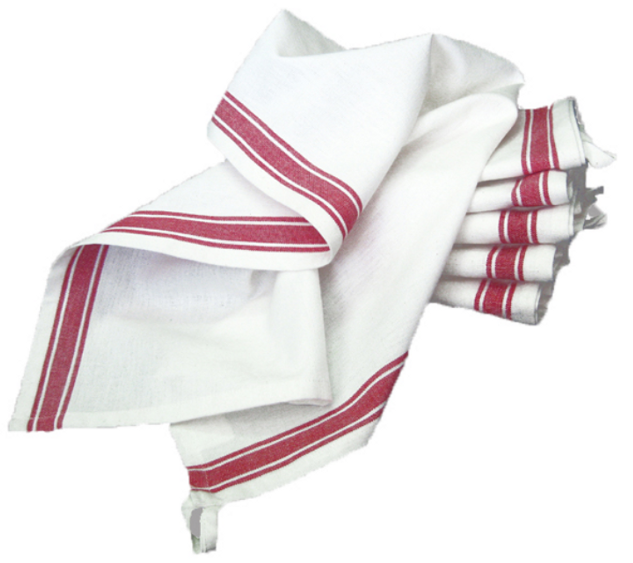 Set of 3 Vintage Style Striped Woven Farmhouse Dish Towels - D