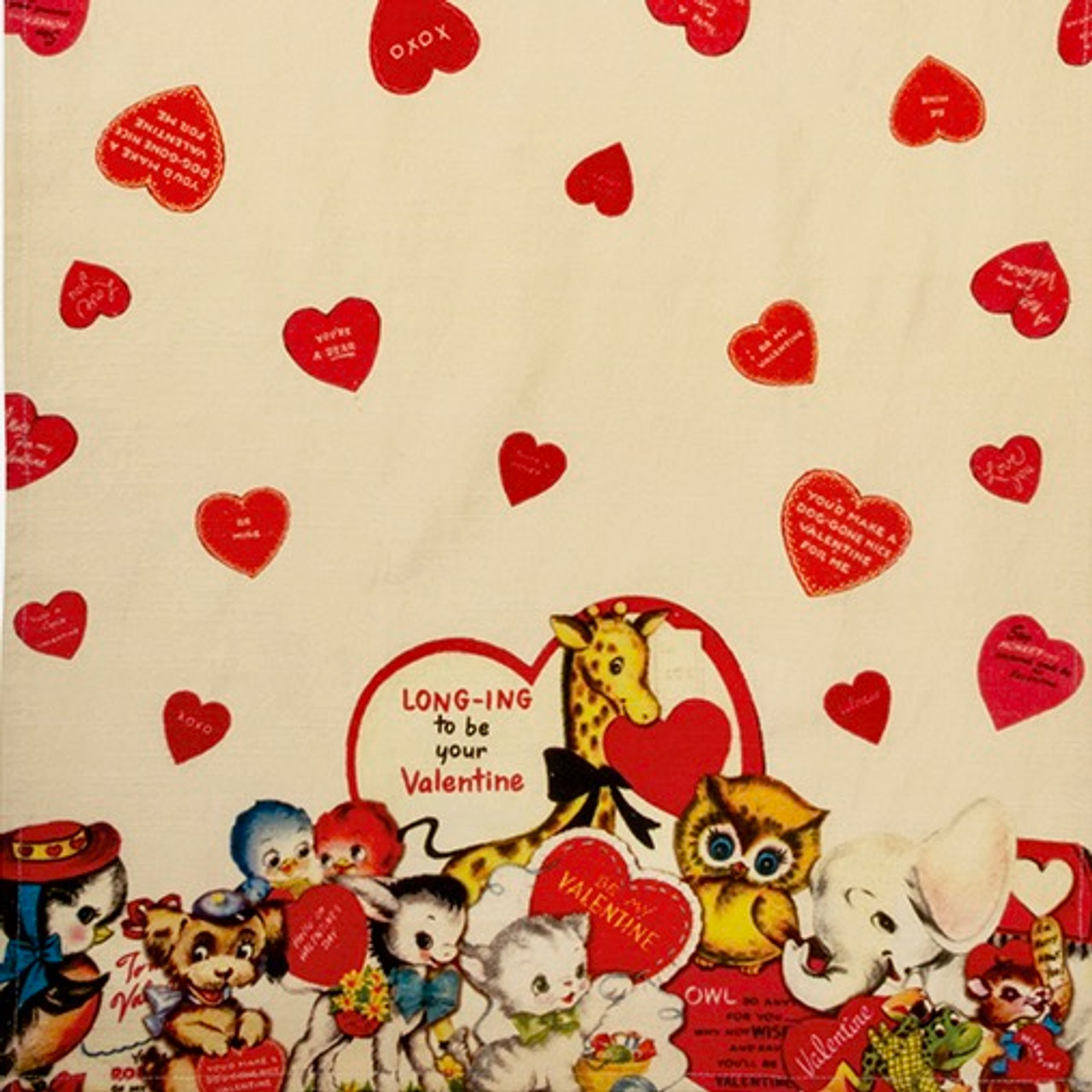 Longing to Be Your Valentine Retro Style Kitchen Towel - A
