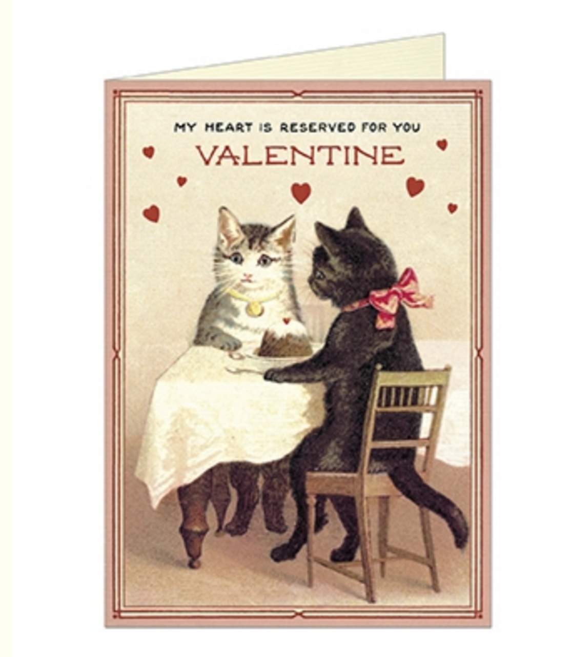 My Heart is Reserved for You Kitty Valentine Card