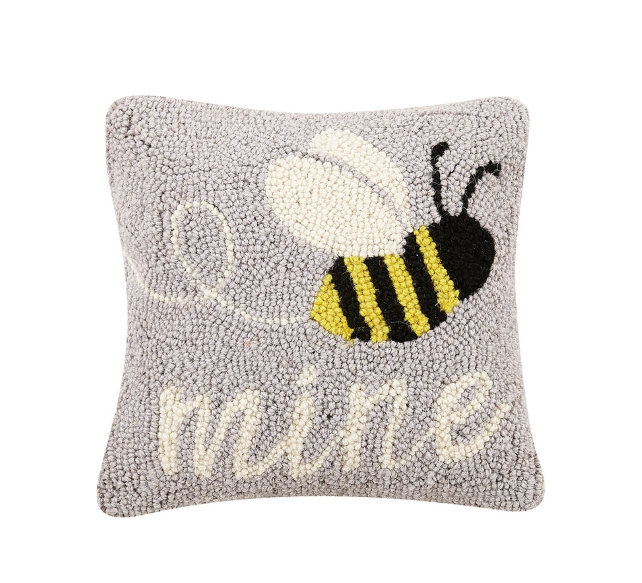 Bee Mine Hooked Accent Pillow - A