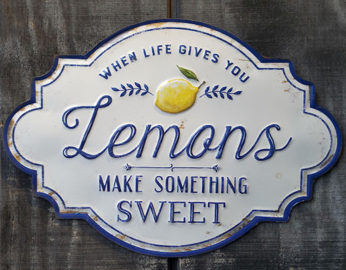 When Life Gives You Lemons Make Something Sweet Metal Wall Decor