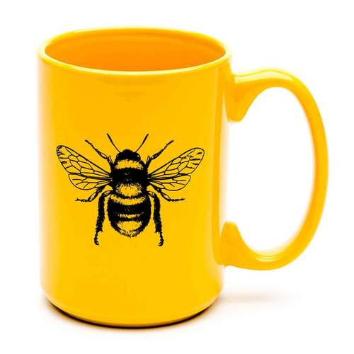 15oz Yellow Coffee Mug with Honey Bee