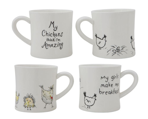 14oz Ceramic Mug for Chicken Lovers