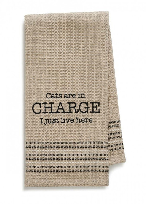 Cats Are In Charge Kitchen or Bar Towel by Mona B