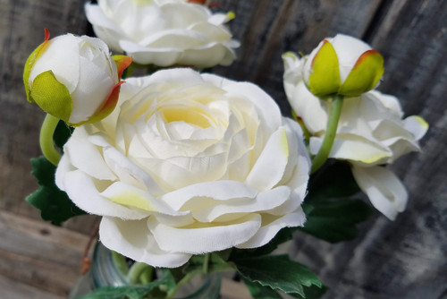 Set of Three WHITE Springtime Peonies