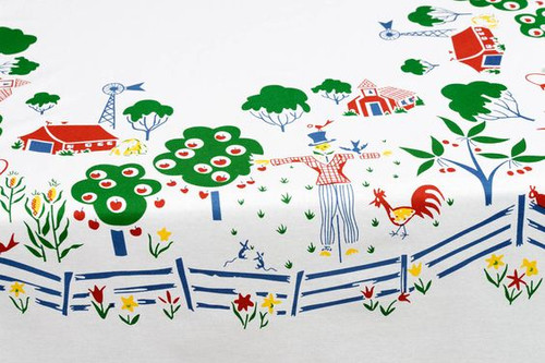 Itty Bitty Farm Vintage-Inspired Tablecloth