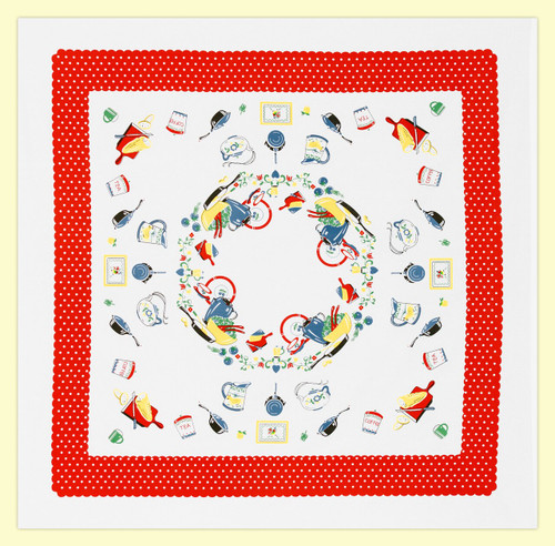 What's Cookin' Vintage-Inspired Tablecloth - FULL VIEW