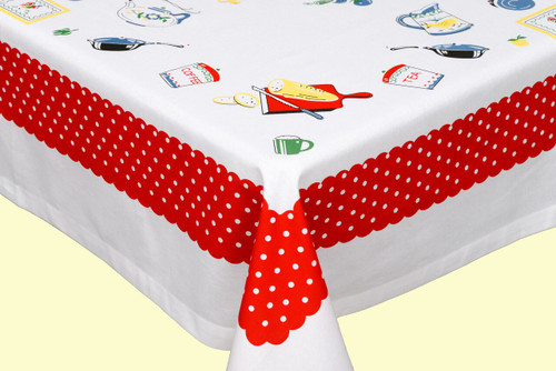 What's Cookin' Vintage-Inspired Tablecloth - CORNER