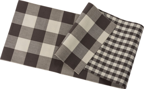 Reversible Cotton Buffalo Check Table Runner - B