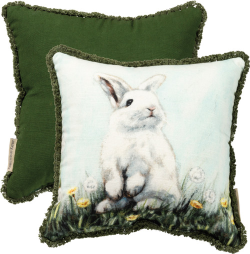Adorable Springtime Bunny Accent Pillow
