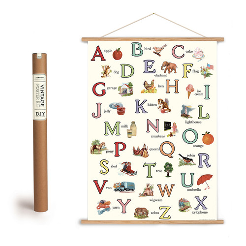 English ABCs Poster with Hanging Kit