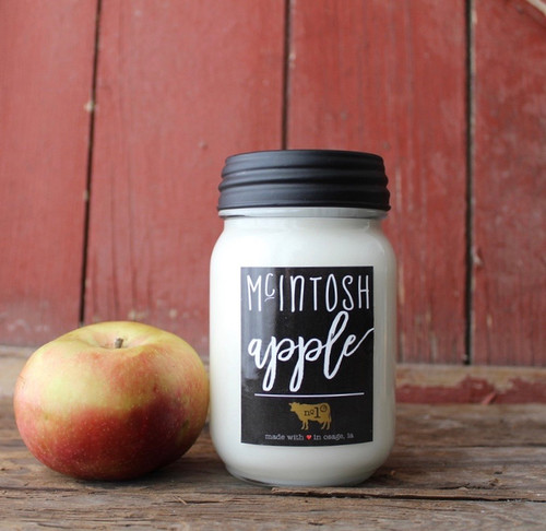 Milkhouse Candle Company Farmhouse Mason Jar Candle - Mcintosh Apple
