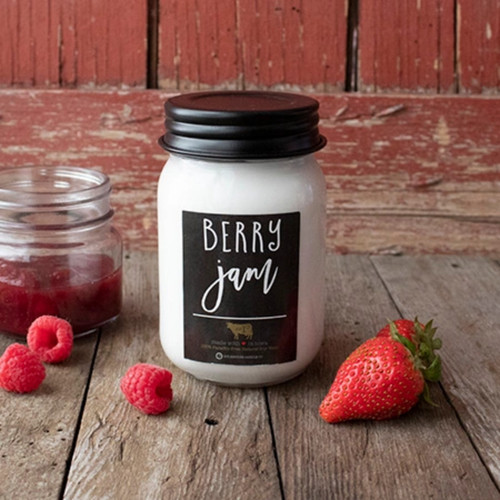 Farmhouse Mason Jar Candle - Berry Jam.