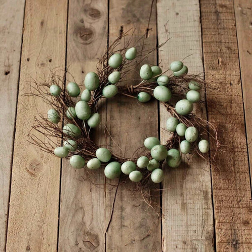 Springtime Robin's Egg Candle Ring or Wreath