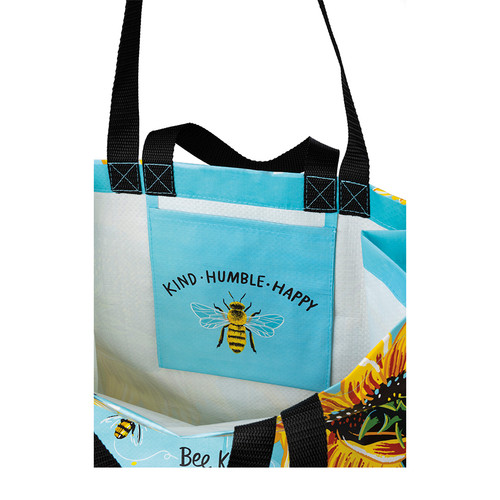 Bee Kind, Bee Humble, Bee Happy Market Tote