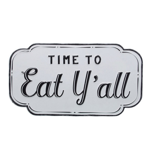 Time to Eat Y'all Enamel Farmhouse Kitchen Decor