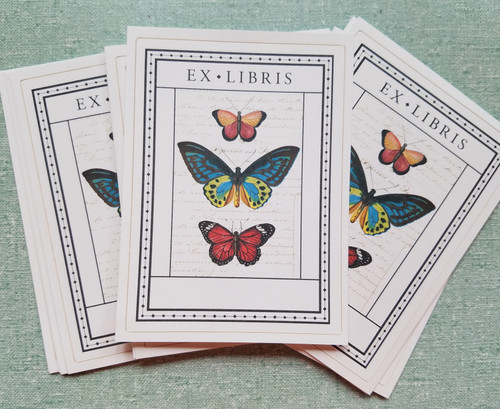Cavallini Butterfly Bookplates - A