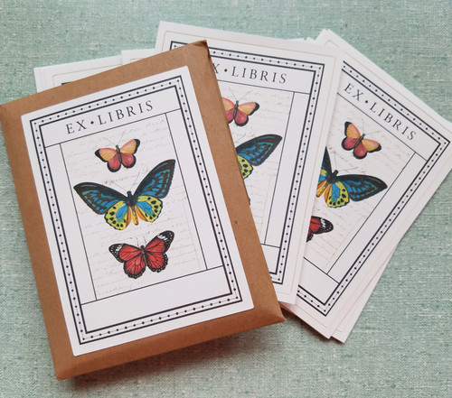 Cavallini Butterfly Bookplates - C