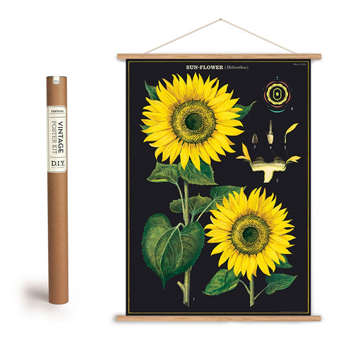 SUNFLOWER POSTER WITH HANGING KIT