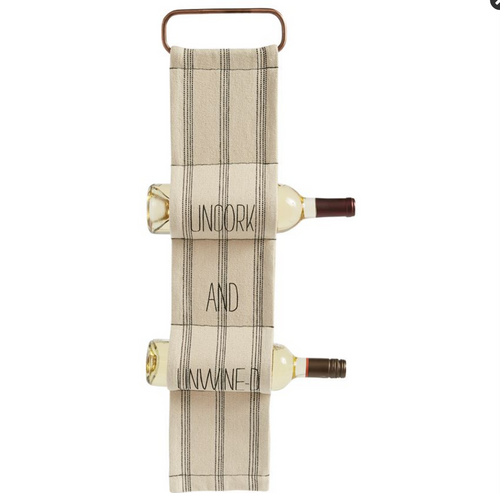 Hanging Woven Wine Rack - Uncork and Unwind
