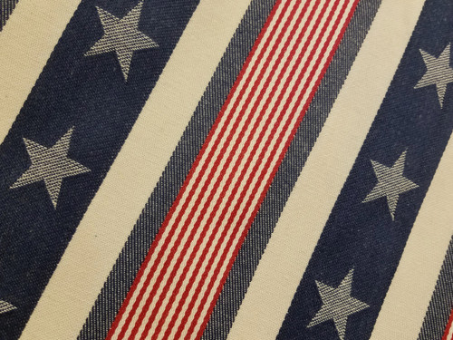 Set of TWO Stars & Stripes Cotton Table Runners - B