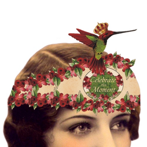 Celebrate This Moment Mailable Wearable Paper Tiara Greeting Card-A